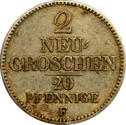 2 Neugroschen - Friedrich August II – revers