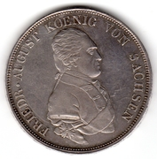 1 Conventionsthaler - Friedrich August III – avers