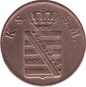 2 Pfennige - Friedrich August II – avers