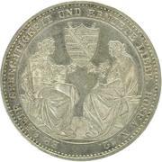 1 Thaler - Friedrich August II -  revers