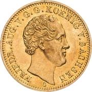 5 Thaler - Friedrich August II – avers