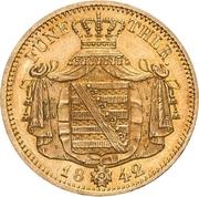 5 Thaler - Friedrich August II – revers