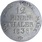 1/12 thaler Anton – revers