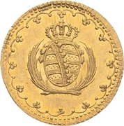1 Pfennig - Friedrich August I. (Gold pattern strike) – avers