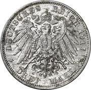 3 Mark - Friedrich August III. (Aluminium pattern strike) – revers