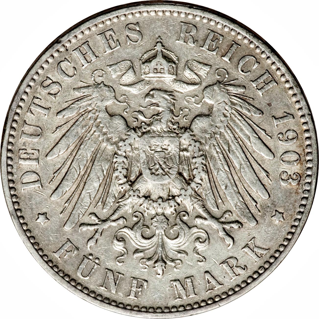 5 Mark Georg Royaume De Saxe Numista