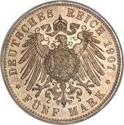 5 Mark - Friedrich August III – revers