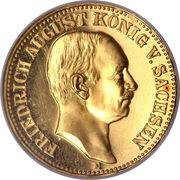 10 Mark - Friedrich August III – avers