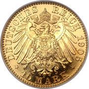 10 Mark - Friedrich August III – revers