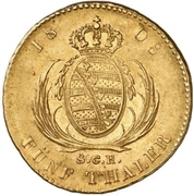5 Thaler - Friedrich August I. – revers
