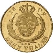 10 Thaler - Friedrich August I. – revers