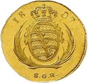 1 Ducat - Friedrich August I. – revers