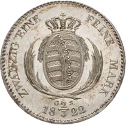 ⅔ Thaler - Friedrich August I. – revers