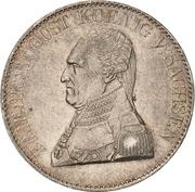 1 Thaler - Friedrich August I. (Ausbeute) – avers