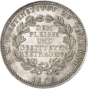 1 Conventionsthaler - Anton (Prize thaler) – revers