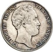 1 Thaler - Friedrich August II. (Ausbeute) – avers