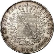 1 Thaler - Friedrich August II. (Ausbeute) – revers