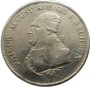 1 thaler Friedrich August I. – avers