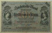 100 Mark (Sächsische Bank) – avers