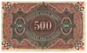 500 Mark Sächsische Bank – revers