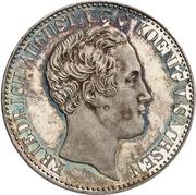 1 thaler Friedrich August II (Ausbeute) – avers