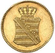1 pfennig Friedrich August I (Frappe essai en or) – avers