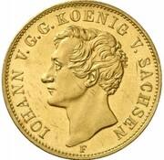 1 thaler Johann (Visite de la monnaie de Drèsde - Frappe essai en or) – avers