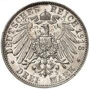 3 mark Friedrich August III (Bataille de Leipzig) – revers