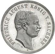 3 Mark - Friedrich August III (Pattern) – revers