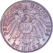 20 mark Friedrich August III (Essai) – revers