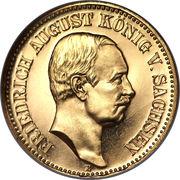 20 Mark - Friedrich August III – avers