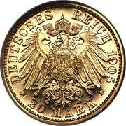 20 Mark - Friedrich August III – revers