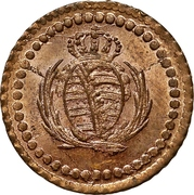 1 Pfennig - Friedrich August I – avers