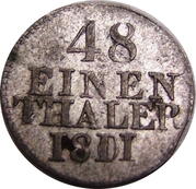 1/48 Thaler Friedrich August I – revers