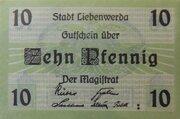 10 Pfennig Liebenwerda – avers