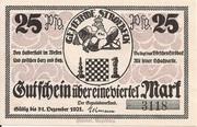 25 Pfennig (Stroebeck) – avers
