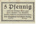 5 Pfennig (Barby) – avers