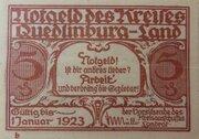 5 Pfennig Quedlinburg-Land, district of – avers