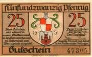 25 Pfennig (Derenburg) – avers