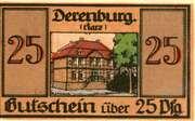 25 Pfennig (Derenburg) – revers