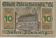 10 Pfennig (Bleicherode) – avers