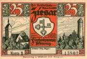 25 Pfennig (Ziesar) – avers