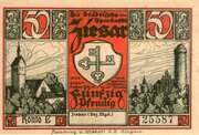 50 Pfennig (Ziesar) – avers