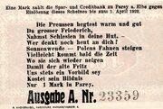 1 Mark (Parey an der Elbe) – revers