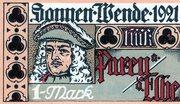 1 Mark (Parey an der Elbe) – avers