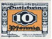 10 Pfennig (Plauen) – avers