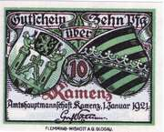 10 Pfennig (Kamenz) – avers