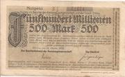 500,000,000 Mark (Zittau) – avers