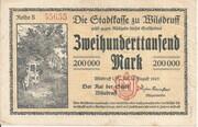 200,000 Mark (Wilsdruff) – avers