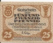 25 Pfennig (Chemnitz) – avers